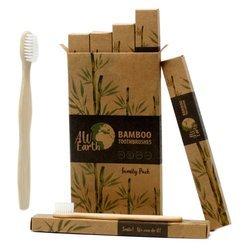 Bambus-Zahnbürste - Familienpackung (4 Stk.)