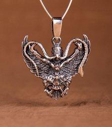 Garuda Talisman aus Silber 925