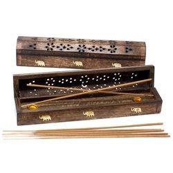 Halter für Kegel & Stäbchen aus Mango Holz mit Elefanten