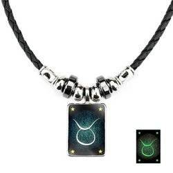 Stier - Lumineszenz Halskette mit Sternzeichen