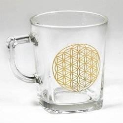 Teeglas ' Blume des Lebens '