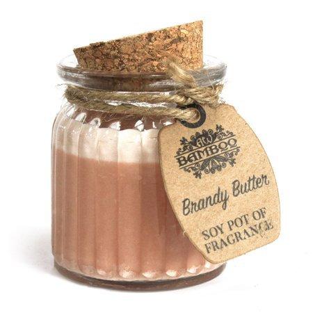 6x Brandy Butter - Duftende Sojakerzen im Glas