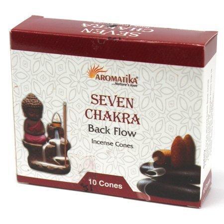 7 CHAKREN - 10x Aromatika Backflow Räucherkegel