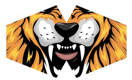 Modische Schutzmaske - Tiger