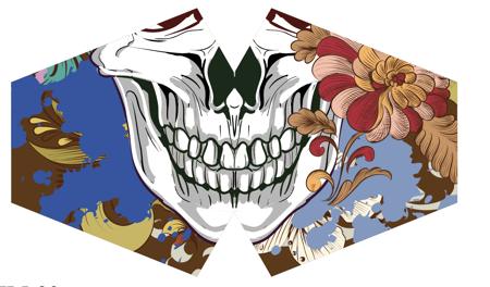 Modische Schutzmaske für Kinder  - Bunte Calavera