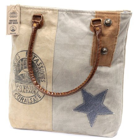 Vintage Handtasche- Storch und Stern