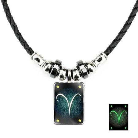 Widder - Lumineszenz Halskette mit Sternzeichen